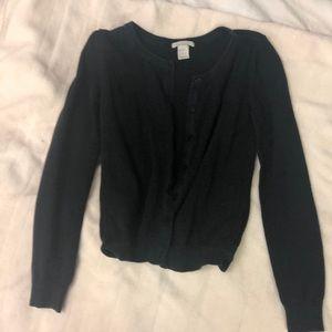 Black Button Up Cardigan